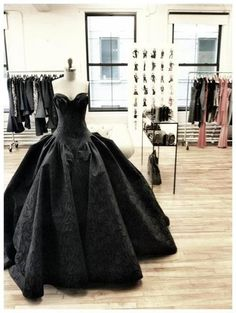 black strapless ball gown... Renew my vows in this!!