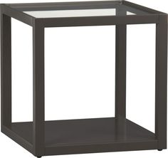 Mimic Smoke Cube in Accent Tables | Crate and Barrel