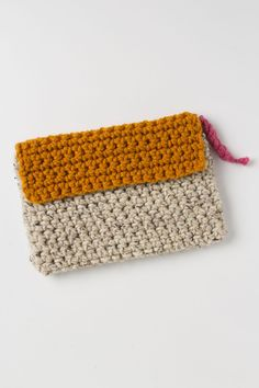 Handknit Colorblock Clutch - Anthropologie.com
