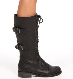 And I've been dying for a pair of tall black combat boots