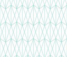 Perfect for a chair. Diamond Grid - Mint fabric by kimsa on Spoonflower - custom fabric