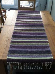 Turkish Table Runner Handwoven Cotton Chenille, Colour Heather 50 x 140cm