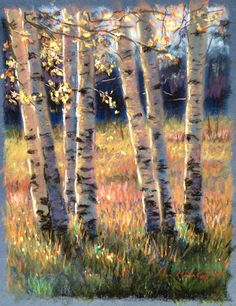 Pastel painting by Laura Kirste Campbell - Malerei - Chalk Art Chalk Pastel Art, Pastel Artwork, Oil Pastel Drawings, Oil Pastel Art, Chalk Pastels, Chalk Art, Soft Pastels, Pastel Landscape, Landscape Art