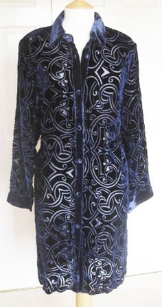 Devore Overshirt From Marie-S. Silk, Navy, Coat, Sweaters, Jackets, Clothes, Collection, Fashion, Hale Navy
