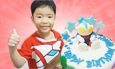 Ultraman Cake Surprise - Tawan's 5th Birthday Party