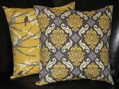 Pillows Designer Fabric Throw Pillows set of Two by beckorama, $28.00