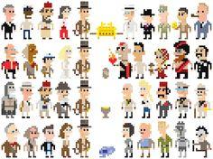 Indiana Jones pixel art