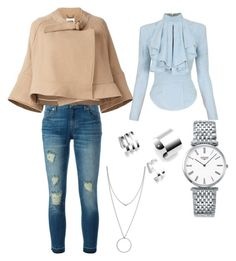 """""""Old school"""" by anna-ch-robinson on Polyvore featuring MICHAEL Michael Kors, Chloé, Balmain, Longines and Botkier"""
