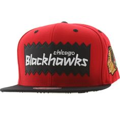 e30149a2ef8 BAIT x NHL x Mitchell And Ness Chicago Blackhawks STA3 Wool Snapback Cap  (red   black) NQ46Z-7HAWKSRBK -  26.00