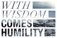 wisdom, humility