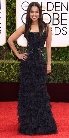 2016 Golden Globes Red Carpet Arrivals - Tracey Edmonds  - from InStyle.com