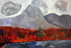 Marsden Hartley - Mount Katahdin, Maine at National Art Gallery Washington DC