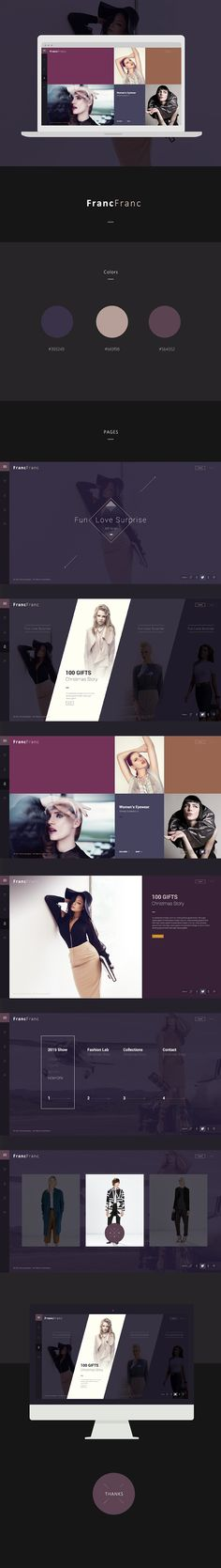 website concept design on Behance