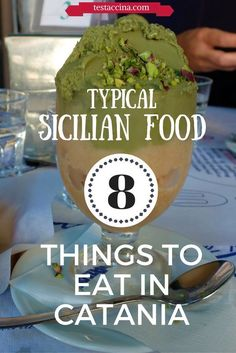 Typical Sicilian Food: 8 Things You Should Eat Before Leaving Catania When visiting Catania, don't miss out on typical Sicilian foods like granita, cannoli, torrone, pistachio and some unusual local delicacies including horse meat. Cinque Terre, Catania Sicily, Sicily Italy, Noto Sicily, Calabria Italy, Verona Italy, Puglia Italy, Naples Italy, Venice Italy