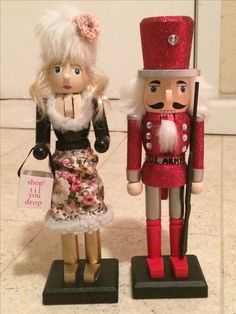 Gave these nutcrackers personalized makeovers according the the recipients personalities and professions