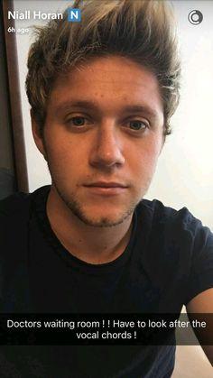 Niall via snapchat