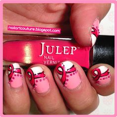 ! ★Nail Art Couture★ !: Breast Cancer Awareness Nails w/ TUTORIAL
