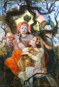 Radharani and Krishna Krishna Leela, Radha Krishna Pictures, Radha Krishna Photo, Radha Krishna Love, Krishna Photos, Shree Krishna, Radhe Krishna, Lord Krishna, Shiva