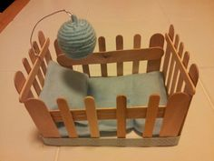 Baby Shower Crib Out Of Popsicle Sticks Egg Eggs For Project
