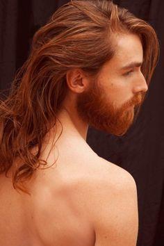Texture Love by Pia Schweisser - Brodybookings - Beard Model Ginger Men, Ginger Beard, Ginger Hair, Hair And Beard Styles, Long Hair Styles, Long Hair Beard, Long Hair Guys, Redhead Men, Beard Model