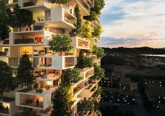 World's First Building Covered with Evergreen Trees