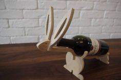 Easter Wine Rack Wine Holer Easter Table Decorations by Woodplay24