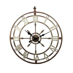 This Metal Ship Wall Clock is the perfect addition to any nautical or colonial themed room. This clock features roman numerals instead of numbers, a mock compass fixture to hold the hands and has a rust effect colouring to add to the clock's authentic style. 79.5cm x 6.5cm x 87.5cm. Currently on offer at The Range Online for £49.99.