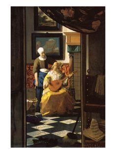 Jan Vermeer  (Delft 1632–1675)  The Love Letter