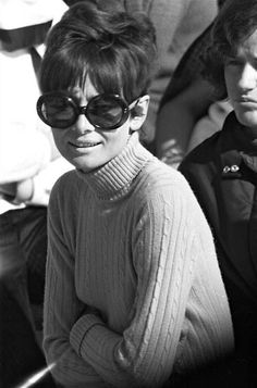 Audrey Hepburn photographed by Yul Brynner during the Winter Olympic Games in Chamrousse (near Grenoble, in the French Alps), on February 12, 1968.
