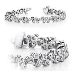 Diamantring / Diamantarmband / Diamantschmuck: Diamantarmband mit 3.00 Karat Diamanten aus 585er ...