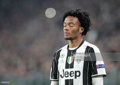 Juan Cuadrado of Juventus pause for a one minute silence in honour of the victims of a plane crash, which was carrying aboard it members of the Brazilian team Chapecoense Real, when it crashed in Colombia on November 29, ahead of the UEFA Champions League football match Juventus Vs GNK Dinamo Zagreb on December 7, 2016 at the 'Juventus Stadium' in Turin.