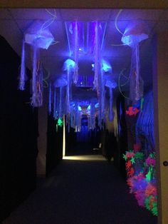 4th - 6th grade craft hallway. It was so cool! It was like being in the ocean! Ocean Commotion, 2015. 5th.