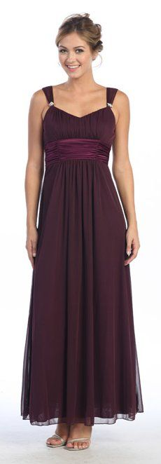 Plum Formal Dress Empire Waist Plum Bridesmaid Dress Long Plum Gown, maybe for the maid of honor? Plum Bridesmaid Dresses, Bridesmade Dresses, Plum Dresses, Wedding Bridesmaids, Pretty Dresses, Formal Dresses, Wedding Dresses, Casual Gowns, Jeans Wedding