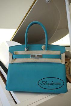 Blue Paon Hermès Birkin 30 @ http://baglissimo.weebly.com