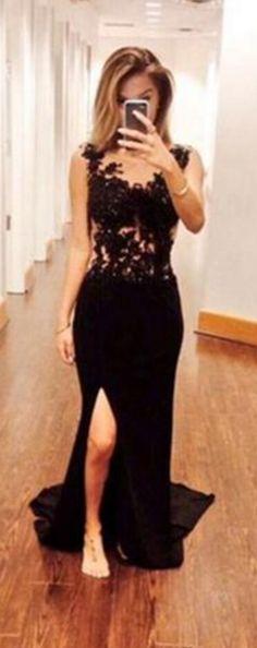 Simple Dress Black Prom Dresses, Me