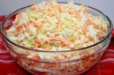 Super tasty white cabbage and carrot salad like from the restaurant Top-Rezepte.de - Super tasty white cabbage and carrot salad like from the restaurant - Grilling Recipes, Beef Recipes, Salad Recipes, Vegan Recipes, Cooking Recipes, Carrot Recipes, Snacks Recipes, Feta, Mozarella