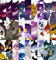 Ghost Pokemon Battle Cuts by Amastroph.deviantart.com on @deviantART