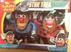 Out of This World!  Star Trek Mr. Potato Head ~Spock and Uhura!! Saw this on listia! X.x crazy awesome!