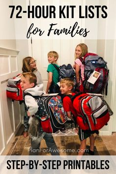 If you are totally overwhelmed with putting together emergency kits for your family, this website is gold! It provides a free printable, step-by-step, organized way to start and actually finish your family's kits! 72 Hour Kit List, 72 Hour Emergency Kit, 72 Hour Kits, Emergency Preparedness Kit, Emergency Preparation, In Case Of Emergency, Survival Prepping, Survival Gear, Survival Skills