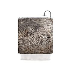 """Kess InHouse Susan Sanders """"Tree Bark"""" Shower Curtain, 69 x 70"""", Brown Wooden, GulpX is Amazon, curated. Find only most useful, beautiful, and well-designed products from Amazon."""