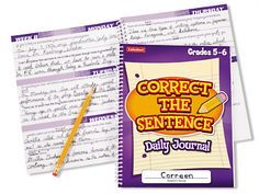 Correct the Sentence! Daily Journal - Gr. 5-6 at Lakeshore Learning