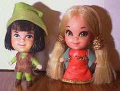 Liddle Kiddle - Robin Hood and Maid Marian.  I lost mine when I moved from Chicago to Dekalb..