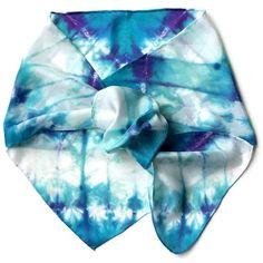 Seafoam Aqua Hand Dyed Silk Scarf by SilkMari on Etsy, $24.00