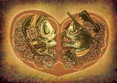 The Dia de los Muertos Invitiations Set an Awesome Mood #DIY trendhunter.com