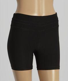 Look what I found on #zulily! Black Reflective Zip Bike Shorts #zulilyfinds