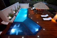 I think at my future house I'm going to have about five pools or add my favorite parts of each one