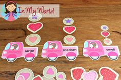 Preschool Valentine's Day Centers Sort by size