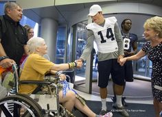 PSU Football Visits Four Diamonds children and their families at Penn State Hershey Children's Hospital in 2014