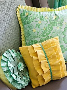 DIY Home Decor | Pillows with Fringe Sewing Tutorial