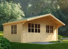 Log cabin LILLE 4m x 5m (13' x 17') 44mm